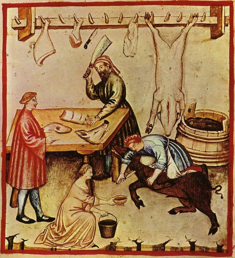 Medieval butchery